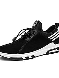 economico -Unisex scarpe da ginnastica Suole leggere Primavera Autunno Materiali personalizzati Pelle di maiale Casual Lacci A quadri PiattoNero