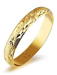 Недорогие -Жен. Браслет разомкнутое кольцо Цирконий Базовый дизайн Мода обожаемый Pоскошные ювелирные изделия Циркон Позолота Позолоченное розовым