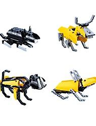 cheap -Building Blocks Educational Toy DIY Rabbit Chicken Snake Dog Pig Dragon Mouse Bull Horse Sheep Monkey Animal Children's Gift