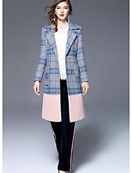 Dámské Jednoduchý Mikro elastické Kalhoty chinos Kalhoty Štíhlý Mid Rise Barevné bloky