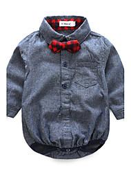 abordables -bébé Ensemble de Vêtements Enfant Fête / Soirée Décontracté / Quotidien Mode Coton Polyester Spandex Printemps/Automne Manches Longues
