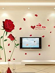 Floreale/Botanical Cartoni animati Romanticismo Adesivi murali Adesivi aereo da parete Adesivi decorativi da parete Adesivi matrimonio