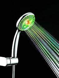 cheap -Colorful Shower Contemporary A Grade ABS Chrome Finish LED Shower Hand