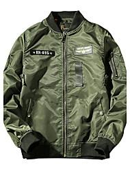 Men's Plus Size Fashion Slim Stand Collar Patch Design Jacket