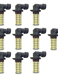 abordables -10pcs H8 / 9006 / 9005 Automatique Ampoules électriques 4W SMD 3528 385lm Ampoules LED Feu Antibrouillard