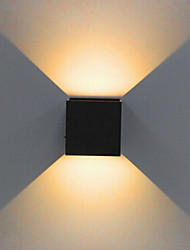 cheap -1PCS 2X5W Dimmable Modern Brief Cube Adjustable Surface Mounted LED Wall Lamps Outdoor Waterproof IP68 Aluminum  up down Garden Lights 110V/220V