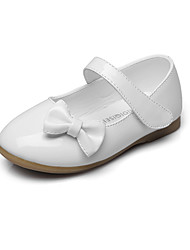 cheap -Girls' Flats Comfort Flower Girl Shoes Leatherette Spring Fall Wedding Casual Outdoor Party & Evening Dress Bowknot Magic Tape Flat Heel