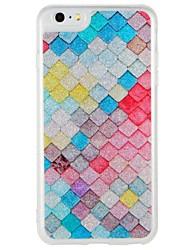 economico -Caso per Apple iphone 7 più iphone 7 copertura incandescente nel modello scuro modello posteriore della copertura caso geometrico modello