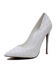 Damen High Heels Pumps Schuhe für das Blumenmädchen maßgeschneiderte Werkstoffe Mikrofaser Frühling HerbstHochzeit Kleid Party &