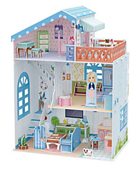cheap -Doll 3D Puzzles Jigsaw Puzzle Dollhouse Paper Model Girl Doll Toys Famous buildings Architecture 3D DIY Natural Wood Kids Unisex Pieces
