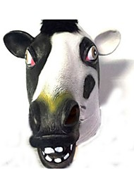 economico -Maschere di Halloween Maschera animale Feste Cow A tema horror Lattice Colla Gomma da cancellare Pezzi Unisex Per adulto Regalo