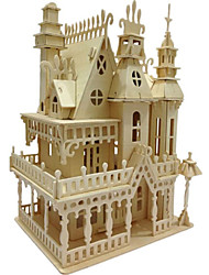 abordables -Puzzles 3D / Puzzle / Maquettes de Bois Bâtiment Célèbre / Maison En bois / Bois Naturel Unisexe / Garçon Cadeau