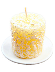 Plumeria Floral-Scented Candle with Ceramic Candle Holder Shanghai Beter Gifts® Bachelorette Home Decor Candle Favors