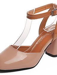 abordables -Femme Chaussures à Talons Semelles Légères Polyuréthane Eté Décontracté Marche Talon Plat Gros Talon Beige Jaune Rose 7,5 à 9,5 cm