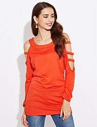 abordables -Mujer Noche Ahuecado Camiseta Un Color