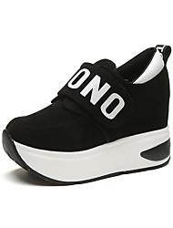cheap -Women's Sneakers Comfort Fabric Spring Fall Casual Flat Heel Ruby Gray Black Flat