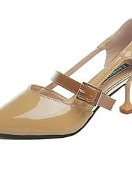 cheap -Women's Sandals Comfort Spring Summer PU Casual Hook & Loop Low Heel Beige Blushing Pink Camel Under 1in
