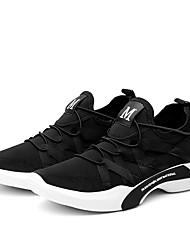 Da uomo Sneakers Comoda Suole leggere Autunno Inverno Tessuto Casual Basso Bianco Nero Grigio Meno di 2,5 cm