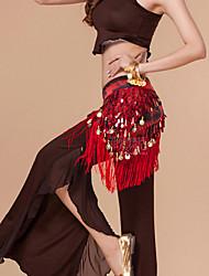 Danza del ventre Cintura per danza del ventre Per donna Esibizione Poliestere Monetine di rame 1 pezzo Cintura