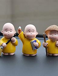 Diy ornements de l'automobile cartoon anime little monk dolls pendentif voiture&Résine ornements