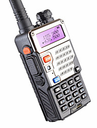 baofeng uv-5re uhf vhf walkie talkie 5w 128 canales de radio bidireccional para la caza de doble pantalla