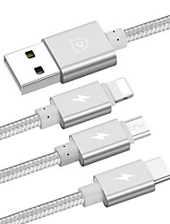 USB 2.0 Connect Cable USB 2.0 to USB 2.0 Type C Micro USB 2.0 Lightning Connect Cable Male - Male 1.2m(4Ft)