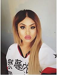 abordables -Cheveux humains Full Lace Perruque Droit 130% Densité 100 % Tissée Main Perruque afro-américaine Ligne de Cheveux Naturelle Cheveux