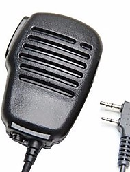 cheap -Rainproof 2-Pin Shoulder Remote Speaker Mic Microphone PTT For Kenwood Wouxun Puxing Baofeng Two Way Radio 2pin