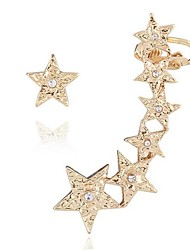 Women's Stud Earrings Clip Earrings Mismatch Personalized Cute Style Alloy Star Jewelry For Gift Casual Beach Holiday