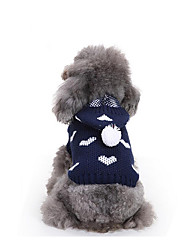 cheap -Dog Sweater Hoodie Dog Clothes Casual/Daily Heart Costume For Pets