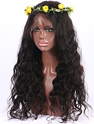 cheap -Unprocessed Brazilian Virgin Human Hair 8-26 Inch 130% Density 13*6 Lace Front Wig Water Wave Front Lace Wig Non-remy Hair Wavy Wig