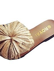 economico -Da donna Pantofole e infradito Comoda PU (Poliuretano) Estate Casual Floreale Piatto Oro Bianco Nero Grigio 5 - 7 cm