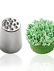 cheap -1pc Creative Grass Icing Nozzle Piping Tips Sugarcraft Cream Cake Cupcake Decorating Tool