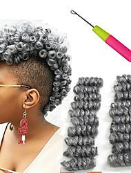 """Недорогие -Afro Kinky плетенки Косы 10"""" Надувной Curl Кудрявый Косы в технике Кроше Черный / Клубника Blonde Черный / Medium Auburn Черный /"""