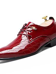 Herren Schuhe PU Frühling Herbst formale Schuhe Outdoor Schnürsenkel Für Party & Festivität Schwarz Gelb Burgund