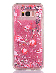 cheap -Case For Samsung Galaxy S8 S8 Plus Case Cover Flamingo Pattern TPU Material Full Soft Love Flash Powder Quicksand Phone Case For Galaxy S7 S7 Edge