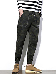 cheap -Men's Mid Rise Inelastic Skinny Harem Chinos Pants,Casual Active Solid Camouflage Winter Fall