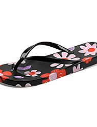 cheap -Women's Slippers & Flip-Flops Light Soles PU Summer Casual Flat Heel Blushing Pink Green Black Flat