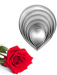 cheap -6pcs/set Stainless Steel Rose Flower Cookie Cutters Kitchen Baking Mold Fondant Wedding Cake Decorating Tool