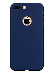 Per iPhone X iPhone 8 Custodie cover Traslucido Custodia posteriore Custodia Tinta unica Morbido TPU per Apple iPhone X iPhone 8 Plus