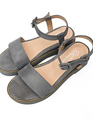 cheap -Women's Shoes Cashmere Summer Slingback Sandals Walking Shoes Flat Heel Round Toe for Casual Black Gray Almond