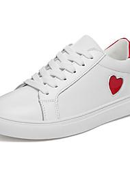 Damen Sneaker Komfort Leuchtende Sohlen Leder Sommer Herbst Normal Walking Schnürsenkel Plateau Schwarz/weiss Rot/Weiß 7,5 - 9,5 cm