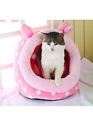 Недорогие -Собака Матрас Кровати Одеяла Палатка Пещера Кровать Дом домашних животных Ткань Животные Корзины Белый Розовый Цвет-леопард