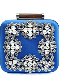 cheap -Women Bags Other Leather Type Evening Bag Rhinestone for Wedding Event/Party Casual Formal Office & Career All Seasons Blue