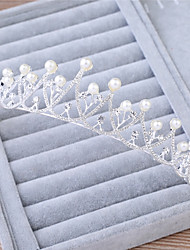 cheap -Imitation Pearl Rhinestone Alloy Tiaras Headbands 1 Wedding Special Occasion Birthday Party / Evening Headpiece