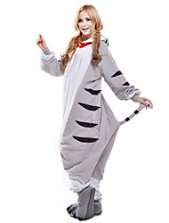 cheap -Kigurumi Pajamas Chi's Sweet Home / Cheese Cat / Cat Onesie Pajamas Costume Polar Fleece White Cosplay For Adults' Animal Sleepwear