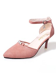preiswerte -Damen Schuhe Kaschmir Sommer Pumps High Heels Stöckelabsatz Spitze Zehe Strass für Normal Schwarz Grün Rosa
