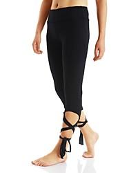 cheap -Women's Running Tights Gym Leggings Wearable Bottoms Hiking Exercise & Fitness Camping Running Polyester Slim Black Dark Grey Light Grey