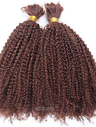 Brazilian Bulk Hair For Braiding Afro Kinky Curly 100% Virgin Human Hair Medium Brown Color Bulk of Hair
