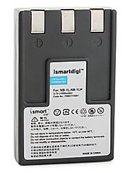 ismartdigi nb-1l / lh batteria fotocamera 1050mah 3.7 v per canon ixus s100 s110 s200 e altro